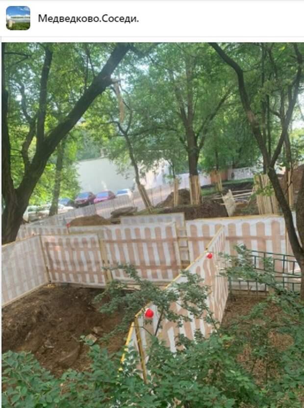 Аварийные работы во дворе на Сухонской затянулись на месяц