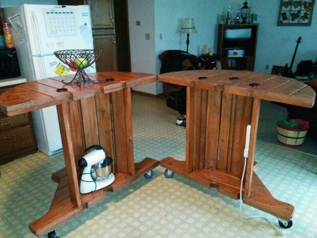 Столы и столики - чудеса преображения Фабрика идей, дизайн, интересное, кабельные барабаны, креатив, умельцы