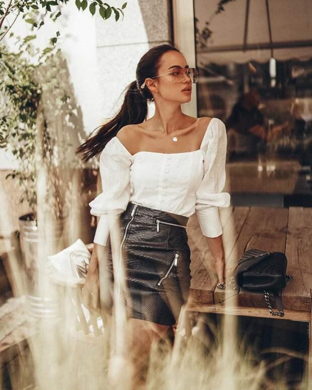 Как стильно носить кожаные вещи летом: 16 роскошных и модных идей