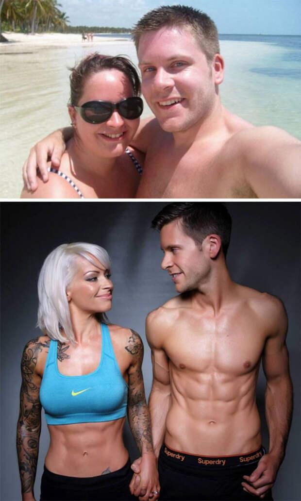 Они не хотели идти к алтарю, не приведя себя в форму, и поженились 5 лет спустя диета, лишний вес, похудение