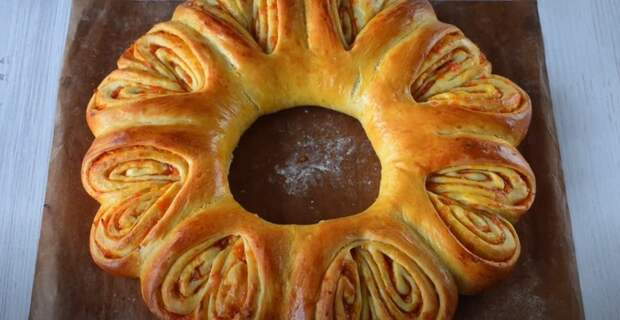 ПАСХАЛЬНЫЙ венок-пирог. КРАСИВЫЙ и вкусный