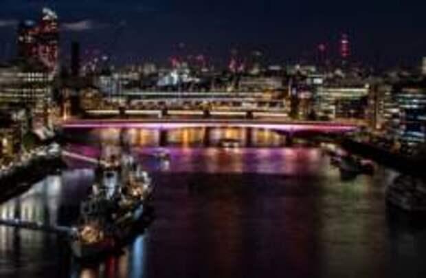 Мосты Лондона стали светодиодными