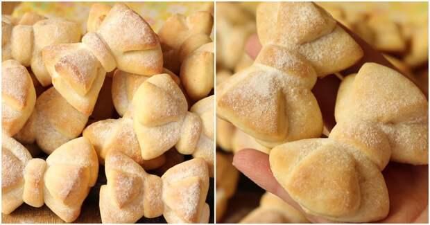 Очень красивое и невероятно простое в приготовлении печенье «Бантики»