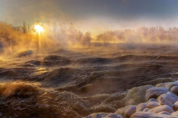Зимняя сказка на реке Вуокса