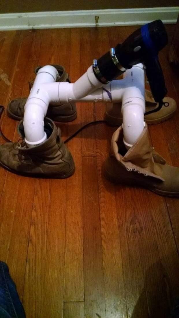 Чудо-сушилка для обуви из пластиковых труб