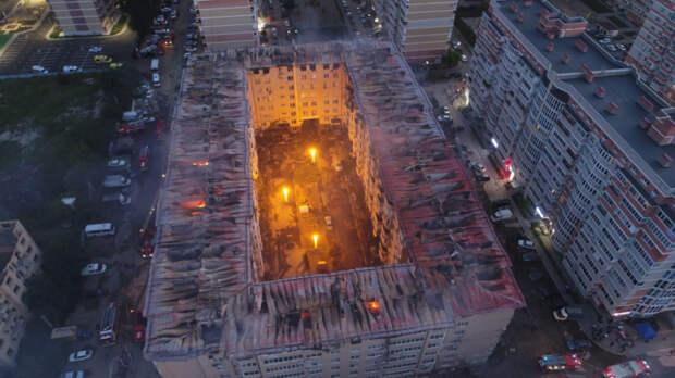 В Краснодаре завели еще одно уголовное дело о пожаре в многоэтажке