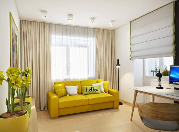 Желтые стены в интерьере: солнце в вашем доме (57 фото)