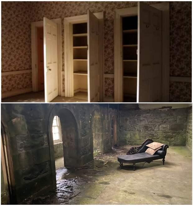 Антикварная мебель и обои, которые выбирала сама Коко Шанель до сих пор напоминают о былой роскоши («Rosehall Estate», Шотландия). | Фото: tourister.ru.
