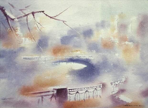 художник Константин Кузема акварель картины - 14