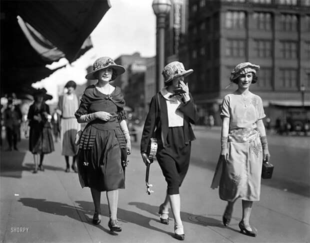 Вашингтон, 1922 год Стиль, винтаж, двадцатые, женщина, мода, прошлое, улица, фотография
