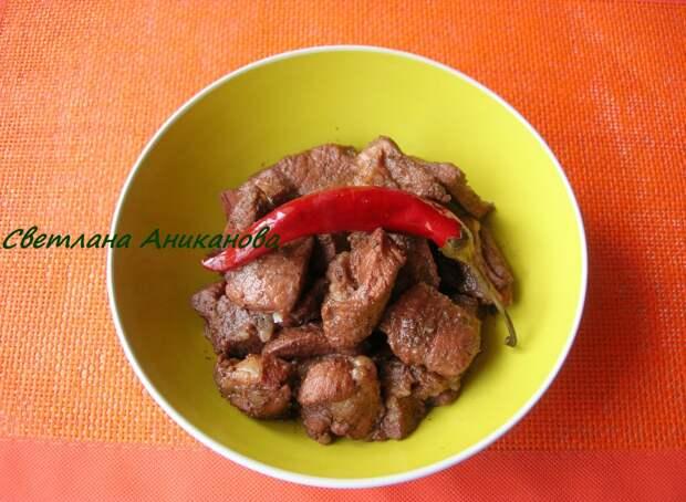 Свинина маринованная в красном вине с кориандром