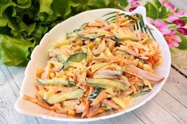 Вкусный салат всего за 10 минут