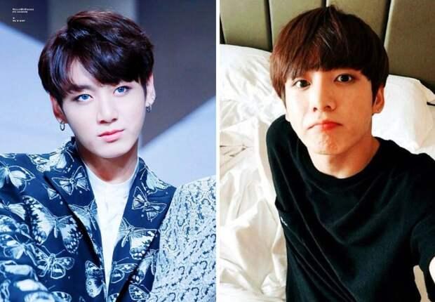 Как выглядят айдолы из BTS без макияжа