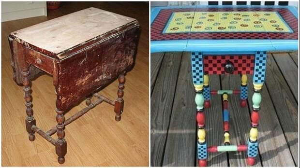 Даже в таком плачевном состоянии стол может стать украшением интерьера, если проявить фантазию и приложить руки.