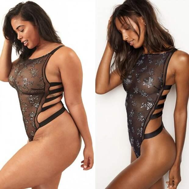 """Модель plus-size Табриа Мэйджорс бросает вызов стандарам """"Victoria's Secret""""."""