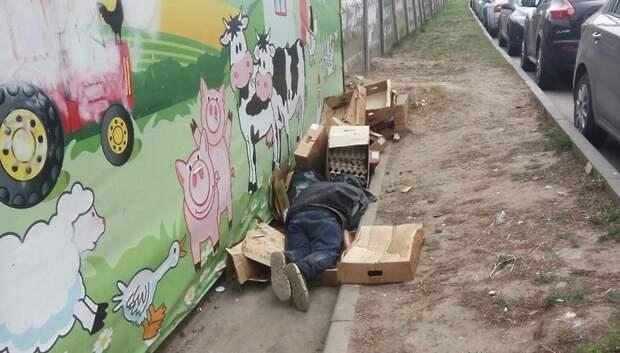 В Подольске бомжи спали на коробках, которые выбросили сотрудники магазина