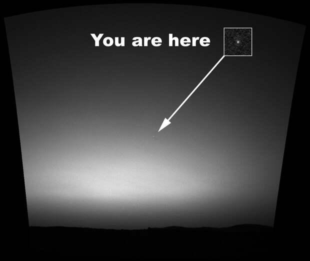 С поверхности Марса Земля кажется еще одной «движущейся звездой» в ночном небе, которые озадачивали первых астрономов.   земля, космос, красота