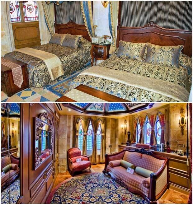Роскошный интерьер единственного номера отеля «The Cinderella Castle Suite» (Walt Disney World's Magic Kingdom, США).   Фото: disneytouristblog.com/ thekingdominsider.com.