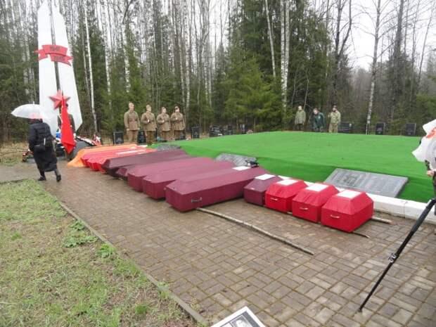 Тамбовские поисковики подняли останки трёх бойцов Красной Армии