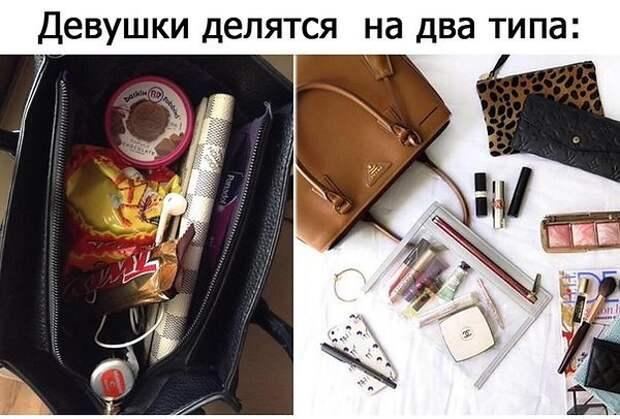 Вы и представить не могли, что носят девушки в своих сумочках девушки, прикол, юмор