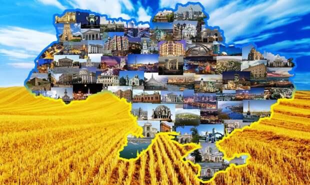 Карта-схема Украины до 2014 года (фото из открытых источников)