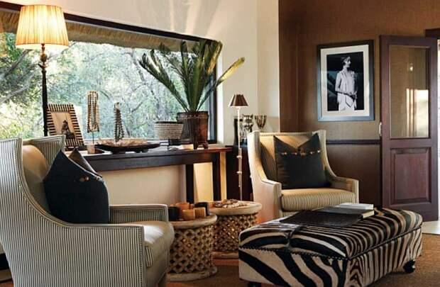 Яркий и насыщенный стиль сафари в интерьере