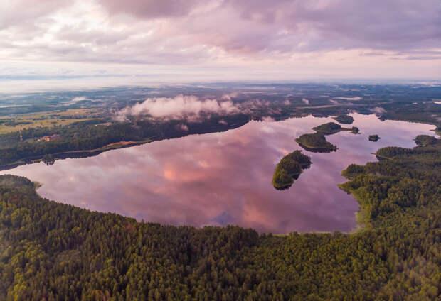 Озеро Сапшо на закате