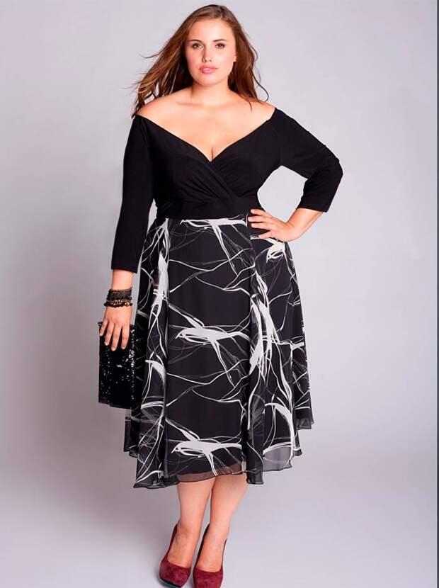 платья для полных 2017
