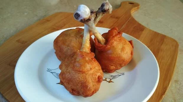 Цыпленок в карри-кляре (chicken curried lollipop)