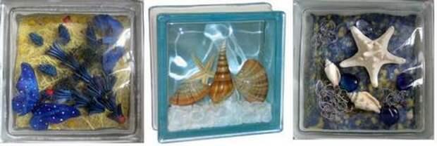 стеклоблоки со вставками