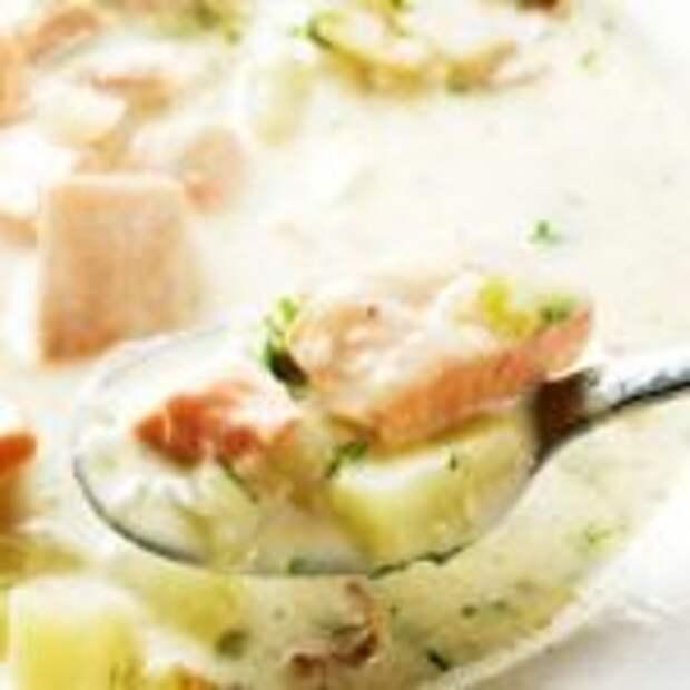 Супер сливочный рыбный суп. Такой вкусный, что можно язык проглотить!