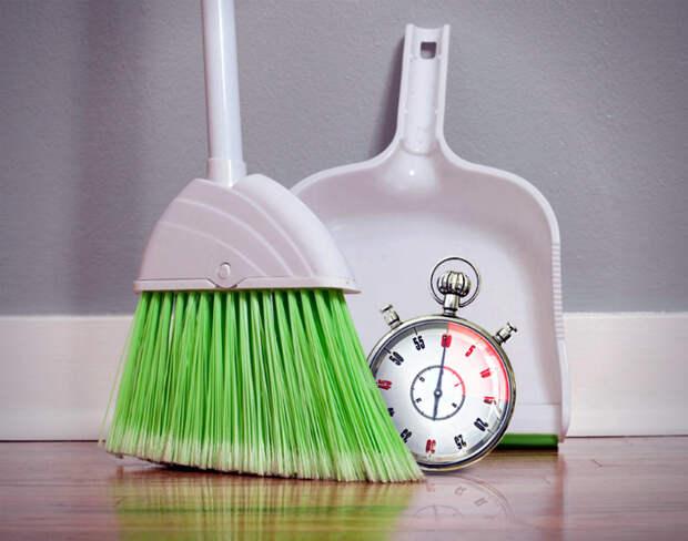 Уборка по часам.
