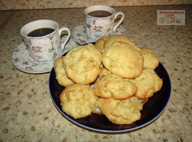 Яблочное печенье на сметане