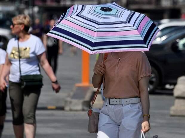 Москвичей предупредили о сохранении опасной жары до пятницы