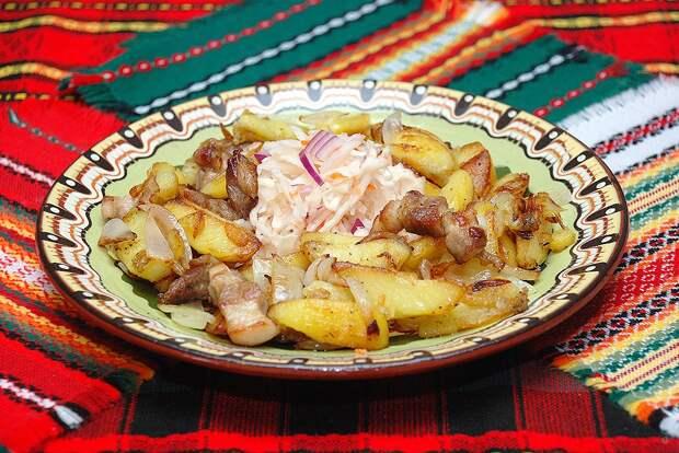 Картошка жареная на сковороде от Сергея Джуренко