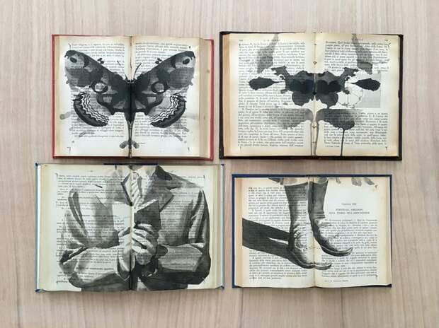 "Книжные ""картины"" от Ekaterina Panikanova"