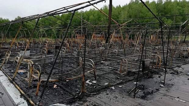 Число погибших детей при пожаре в палаточном лагере под Хабаровском увеличилось до четырех