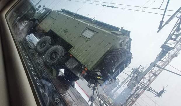 Военные эшелоны заметили награнице Ростовской области иУкраины