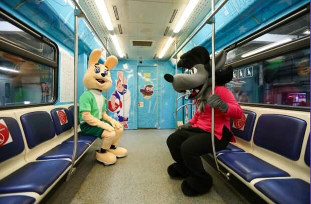 В подземке появился поезд с героями «Союзмультфильма»