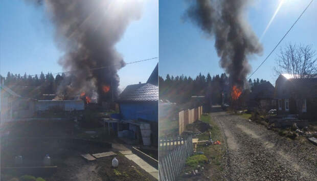Жительница Карелиичерез окно вытащила отца-инвалида из горящего дома
