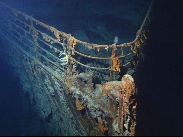 Передняя часть затонувшего «Титаника»