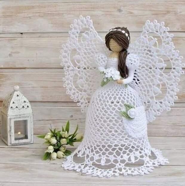 Нежные вязаные ангелочки