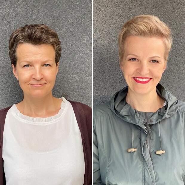 Парикмахер из Литвы делает клиенткам новые причёски и переворачивает их образ на 180 градусов