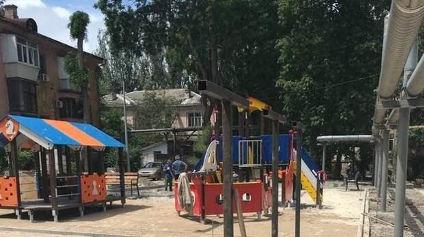 Новый детский комплекс построили в Феодосии