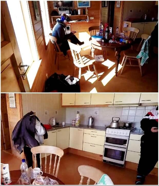 Туристы могут пользоваться столовой, кухней и санузлом (о. Эдлидаэй, Исландия).   Фото: youtube.com/ © Torz Film.
