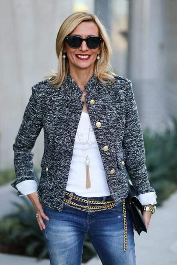 Хит сезона 2021 – твидовый жакет, с чем его носить женщинам 50+. Стильные и удачные сочетания