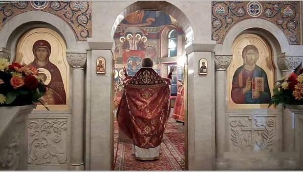 В Мытищах праздничную службу на Пасху провели онлайн