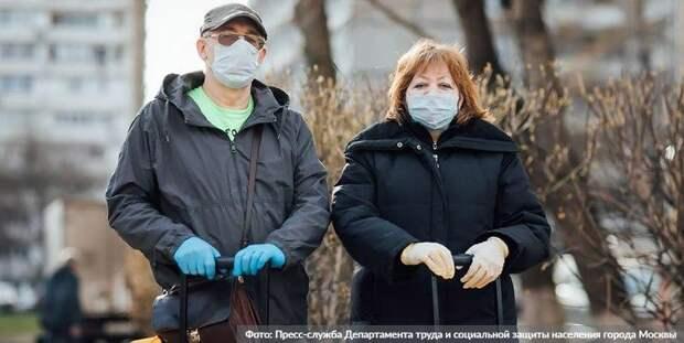 Более 25 тыс кг продуктов доставили москвичам социальные работники/Фото: Пресс-служба Департамента труда и социальной защиты населения города Москвы