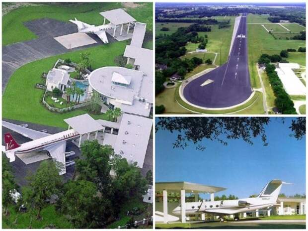 На территории особняка (площадь 2,2 кв. км.) есть павильоны для самолетов и собственный центр управления полетами.   Фото: 2018.xzdec.com.
