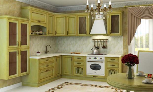 Великолепие классической кухни подчеркивается изысканными аксессуарами